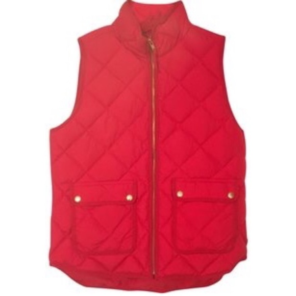 J. Crew Jackets & Blazers - NWT J. Crew red quilted vest